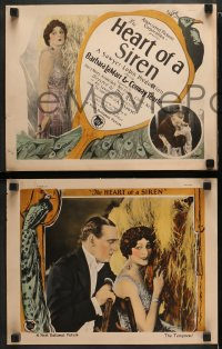8r025 HEART OF A SIREN 8 LCs 1925 Barbara La Marr & young Clifton Webb in his 2nd movie, ultra rare!