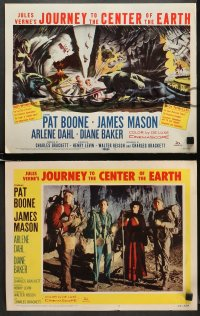 8r026 JOURNEY TO THE CENTER OF THE EARTH set of 8 LCs 1959 Jules Verne classic, great sci-fi images!
