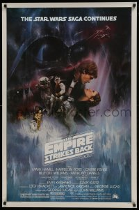 8s010 EMPIRE STRIKES BACK studio style 1sh 1980 classic Gone With The Wind style art by Roger Kastel