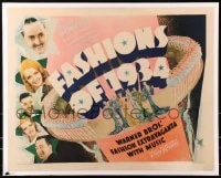 8s016 FASHIONS OF 1934 1/2sh 1934 William Powell, Bette Davis, fashion extravaganza w/music, rare!