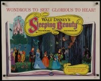 8s019 SLEEPING BEAUTY 1/2sh 1959 Walt Disney cartoon fairy tale fantasy classic, colorful image!
