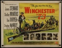 8s021 WINCHESTER '73 1/2sh 1950 James Stewart, Shelley Winters, Anthony Mann, cool rifle art, rare!