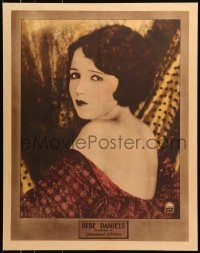 8s032 BEBE DANIELS personality poster 1920s great portrait of the sexy Paramount leading lady!
