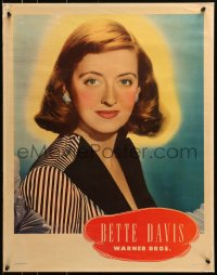 8s033 BETTE DAVIS personality poster 1940s wonderful portrait of the Warner Bros. leading lady!