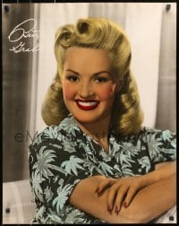 8s034 BETTY GRABLE personality poster 1940s beautiful smiling portrait with facsimile signature!