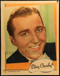 8s035 BING CROSBY personality poster 1936 portrait of the Paramount crooner & leading man!