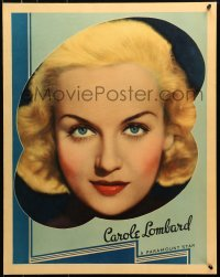 8s037 CAROLE LOMBARD personality poster 1936 wonderful portrait of the sexy Paramount leading lady!