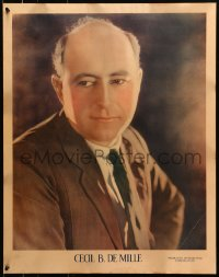 8s038 CECIL B. DEMILLE personality poster 1920s great younger portrait when he was at PDC!