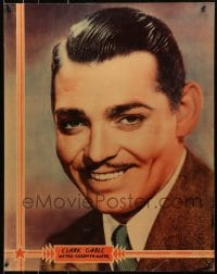 8s039 CLARK GABLE personality poster 1930s head & shoulders portrait of the MGM leading man!