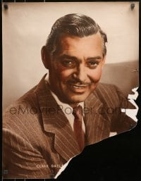8s040 CLARK GABLE personality poster 1940s waist-high portrait of the handsome MGM leading man!