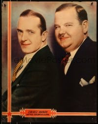 8s028 LAUREL & HARDY personality poster 1930s great portrait the the legendary comedy team, rare!