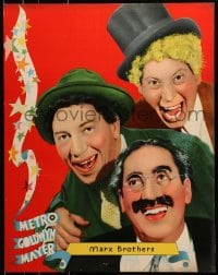 8s027 MARX BROTHERS personality poster 1930s ultra rare portrait of Groucho, Chico & Harpo!