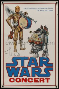 8s001 STAR WARS CONCERT signed 24x37 music poster 1978 by John Williams, great image & ultra rare!