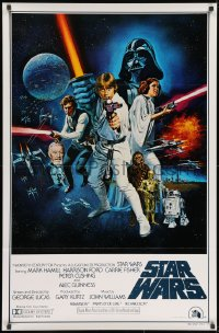 8s002 STAR WARS style C int'l 1sh 1977 George Lucas sci-fi epic, art by Tom William Chantrell!