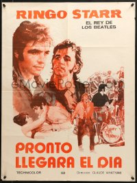8t002 THAT'LL BE THE DAY Argentinean 22x29 1973 Arnaldo Putzu art of Ringo Starr & David Essex!