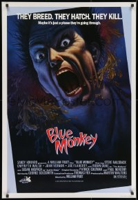 8t024 BLUE MONKEY Canadian 1sh 1987 they breed, they hatch, they kill, great art by Jim Warren