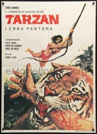 8t003 KING OF THE JUNGLE Croatian 1969 Tarzan en la gruta del oro, Steve Hawkes