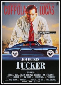 8t101 TUCKER: THE MAN & HIS DREAM German 1989 Francis Ford Coppola, different art of Jeff Bridges!