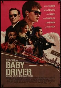 8t020 BABY DRIVER Swiss 2017 Ansel Elgort in the title role, Foxx, artwork by Rory Kurtz!