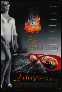 8w010 2 DAYS IN THE VALLEY DS 1sh 1996 full-length image of sexy Charlize Theron in lingerie!