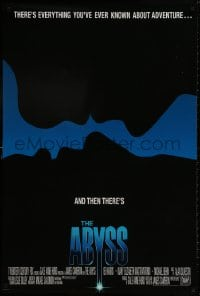 8w021 ABYSS int'l 1sh 1989 directed by James Cameron, Ed Harris, different silhouette art!
