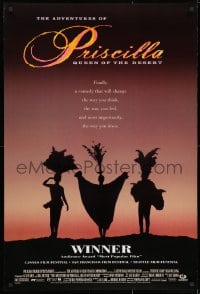 8w026 ADVENTURES OF PRISCILLA QUEEN OF THE DESERT DS 1sh 1994 silhouette of Stamp, Weaving, Pearce!