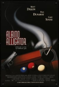 8w031 ALBINO ALLIGATOR 1sh 1996 directed by Kevin Spacey, Matt Dillon, art of pool table & gun!