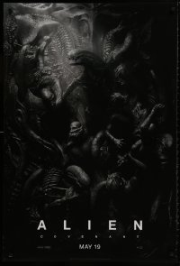 8w037 ALIEN COVENANT style C teaser DS 1sh 2017 Ridley Scott, Fassbender, incredible sci-fi image!