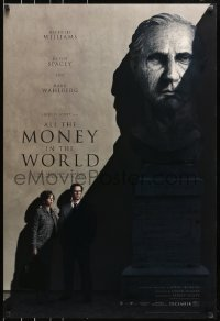 8w040 ALL THE MONEY IN THE WORLD recalled teaser DS 1sh 2017 Ridley Scott, Kevin Spacey credited!