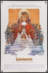 8w495 LABYRINTH 1sh 1986 Jim Henson, art of David Bowie & Jennifer Connelly by Ted CoConis!