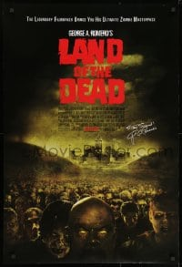 8w499 LAND OF THE DEAD advance DS 1sh 2005 George Romero zombie horror masterpiece, stay scared!