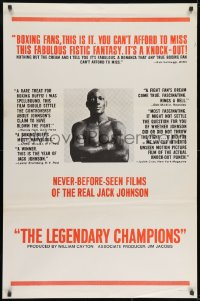 8w513 LEGENDARY CHAMPIONS style A 1sh 1968 heavyweight boxing champions from 1882 to 1929, Johnson!