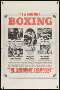 8w514 LEGENDARY CHAMPIONS style B 1sh 1968 heavyweight boxing champions from 1882 to 1929, Johnson!