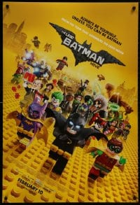 8w515 LEGO BATMAN MOVIE advance DS 1sh 2017 Arnett, always be yourself, unless you can be Batman!