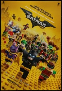 8w517 LEGO BATMAN MOVIE teaser DS 1sh 2017 always be yourself, unless you can be Batman, February!