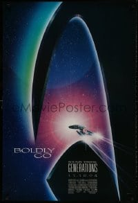 8w852 STAR TREK: GENERATIONS int'l advance 1sh 1994 cool sci-fi art of the Enterprise, Boldly Go!