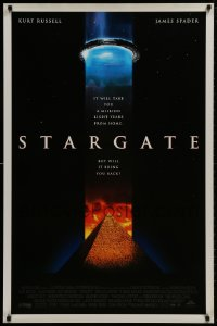 8w858 STARGATE DS 1sh 1994 Kurt Russell, James Spader, a million light years from home!