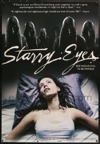 8w860 STARRY EYES 1sh 2014 Alexandra Essoe, creepy image, he would kill to be famous!