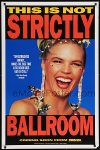 8w866 STRICTLY BALLROOM teaser 1sh 1992 cool close-up image of sexy Sonia Kruger as Tina Sparkle!