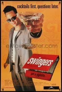 8w872 SWINGERS 1sh 1996 partying Vince Vaughn with giant martini, directed by Doug Liman!