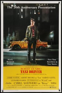 8w880 TAXI DRIVER 1sh R1996 classic art of Robert De Niro by cab, directed by Martin Scorsese!