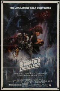 8z262 EMPIRE STRIKES BACK NSS style 1sh 1980 classic Gone With The Wind style art by Roger Kastel!