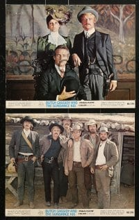 9a068 BUTCH CASSIDY & THE SUNDANCE KID 8 color 8x10 stills 1969 George Roy Hill, action & explosion!