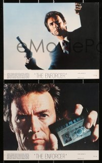 9a081 ENFORCER 8 8x10 mini LCs 1976 Clint Eastwood as Dirty Harry, Guardino, Daly, crime classic!