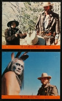 9a055 OUTLAW JOSEY WALES 10 8x10 mini LCs 1976 Clint Eastwood w/ Chief Dan George, Will Sampson!