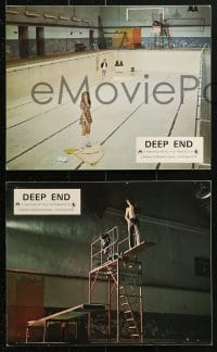 9a047 DEEP END 12 color English FOH LCs 1971 Jerzy Skolimowski coming-of-age sex movie!