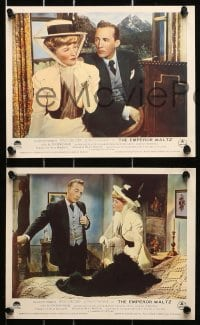 9a079 EMPEROR WALTZ 8 color English FOH LCs 1948 Bing Crosby & Joan Fontaine, directed by Wilder!
