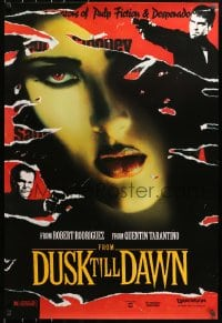 9g660 FROM DUSK TILL DAWN teaser 1sh 1995 George Clooney with smoking gun & Quentin Tarantino, vampires!