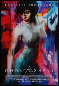 9g662 GHOST IN THE SHELL advance DS 1sh 2017 Scarlett Johanson as Major, Beat Takeshi Kitano!