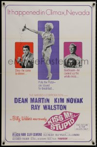 9g752 KISS ME, STUPID 1sh 1965 directed by Billy Wilder, Kim Novak, Dean Martin, Ray Walston!